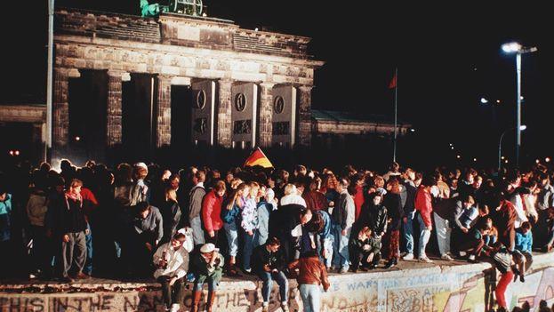 Caída del Muro de Berlín (Foto de archivo)