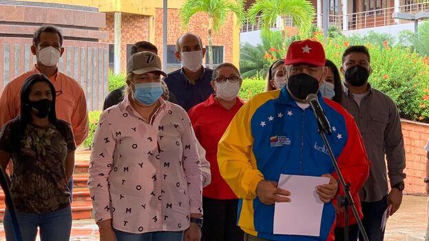 Cabello, que valoró el ensayo electoral realizado en Venezuela para las legislativas de diciembre, hizo referencia a la salida de López de Venezuela. (PSUV)