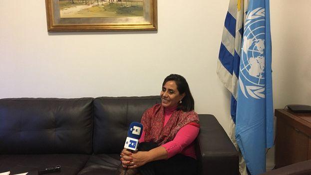Luisa María Calderón habló con Efe sobre el Foro del Frente Parlamentario contra el Hambre. (@CocoaCalderon)