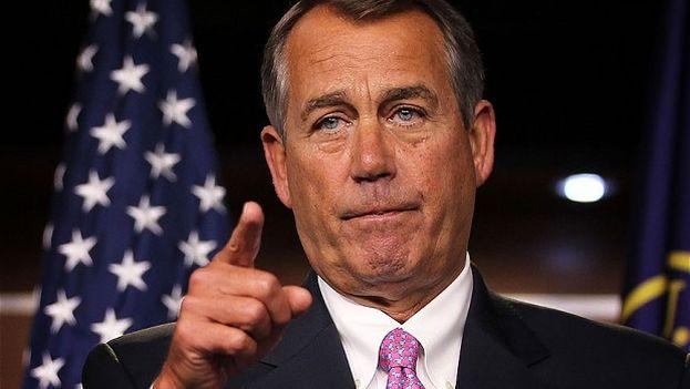 El presidente de la Cámara de Representantes de EE UU, el republicano John Boehner.