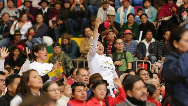 Campaña por el Sí en Ecuador. (Vicuña)