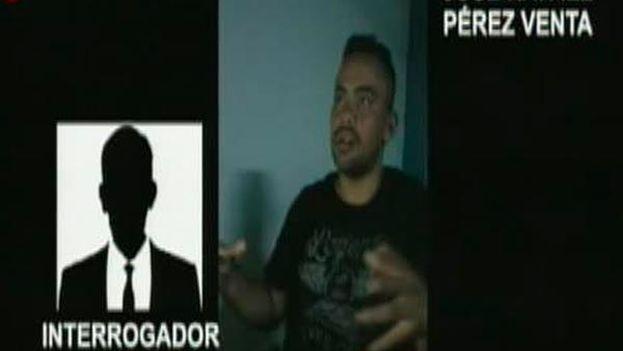 Captura del vídeo en que se acusa a los congresistas de ofrecer dinero para fomentar los disturbios en Venezuela. (@PartidoPSUV)