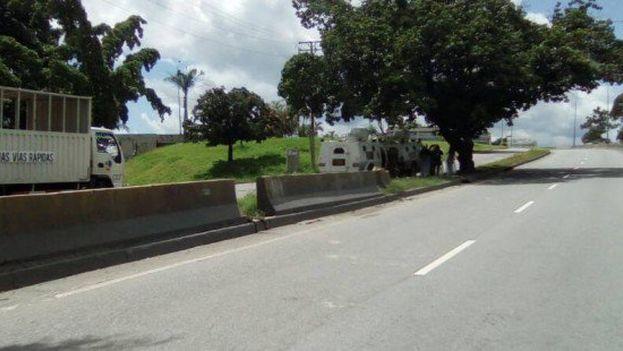 Las zonas de Caracas con predominio de opositores quedaron prácticamente paralizadas en la primera jornada de huelga. (UnidadVenezuela)