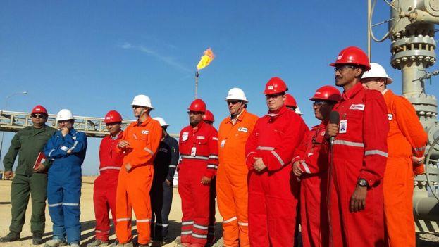 El proyecto Cardón, desarrollado en el Golfo de Venezuela, está produciendo casi 600 millones de pies cúbicos diarios según el ministro. (Ministerio de Energía)