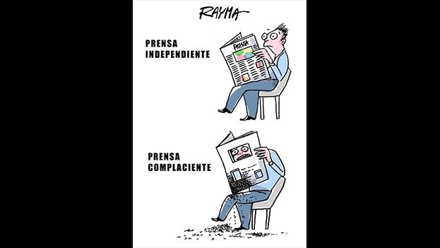 Caricatura de Rayma Suprani del pasado febrero