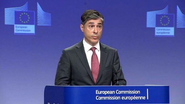 """Carlos Martín, portavoz de la Comisión Europea, lamentó en nombre del organismo que a los comicios no concurrieran los """"partidos políticos de forma igual y sin obstáculos"""". (CE)"""