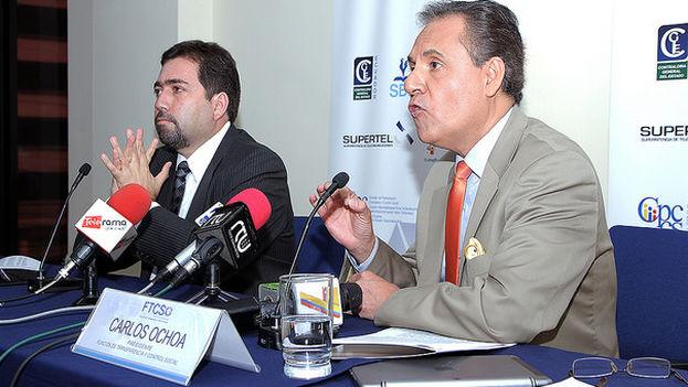 Carlos Ochoa en declaraciones a la prensa en enero de 2015. (Carlos Rodríguez/ANDES)