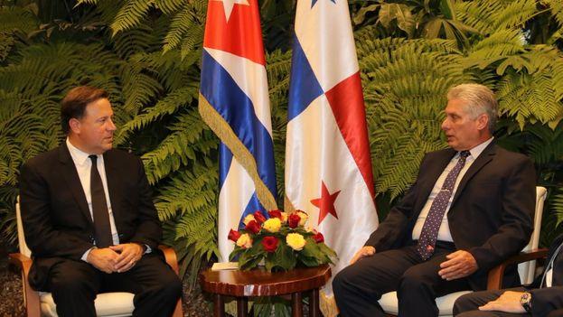 Juan Carlos Varela y Miguel Díaz-Canel se reunieron para impulsar el intercambio comercial y los proyectos turísticos. (JC_Varela)