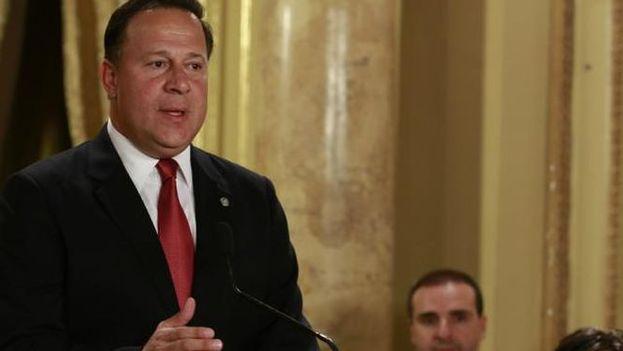 Juan Carlos Varela, presidente de Panamá, durante un discurso a la nación. (Presidencia de la República de Panamá)