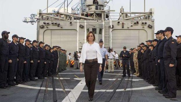 Carmen Chacón fue la primera mujer en ocupar el Ministerio de Defensa de España. (EFE)