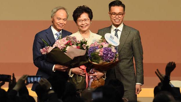 Carrie Lam procede de una familia de la clase obrera y lleva más de 35 años en la administración pública de Hong Kong. (EFE)