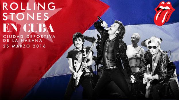 Cartel de los Rolling Stones sobre su visita a Cuba. (Rolling Stones)