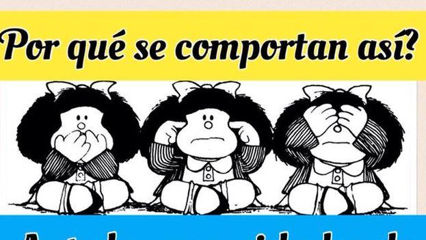 Cartel de protesta de algunos pensionistas venezolanos. (Twitter/@MMCanto)