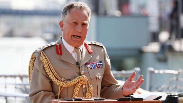 Nick Carter, jefe del Estado Mayor de las Fuerzas Armadas británicas (Europa Press)