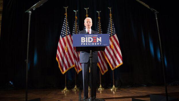 En la imagen un registro del exvicepresidente y candidato demócrata a la Casa Blanca, Joe Biden (EFE/Tracie Van Auken/Archivo)