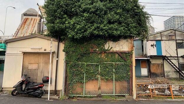 Casa abandonada en un céntrico barrio de Tokio en Japón. (EFE/Antonio Hermosin)
