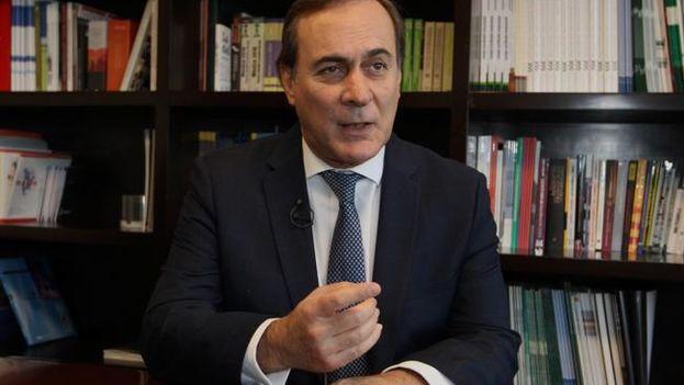 Juan Pablo Castañón, presidente del Consejo Coordinador Empresarial llama a contar con un plan de emergencia para atender la escasez de combustible en México. (EFE)