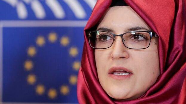 Hatice Cengiz acudió a Washington invitada por el Comité de Exteriores de la Cámara Baja. (EFE)
