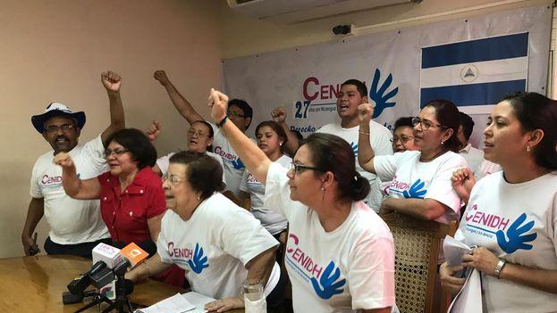 """El Cenidh ha llamado a no disolver su """"compromiso ni el acompañamiento al pueblo de Nicaragua, una resolución de órganos sin autonomía e independencia"""". (Cenidh)"""