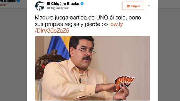 El Chigüire bipolar utiliza el humor como recurso para ridiculizar al Gobierno venezolano. (Captura)