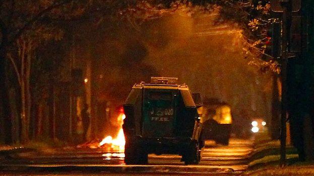 Los disturbios en Chile enturbiaron la conmemoración de los 45 años del golpe militar de Pinochet. (publimetro)
