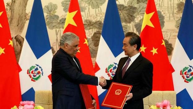 China y República Dominicana establecieron relaciones bilaterales, a la vez que la nación antillana las rompía con Taiwán, que es considerada por Pekín, una provincia rebelde. (EFE)