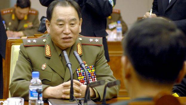 Kim Yong Chol, miembro del buró político del Partido del Trabajo de Corea del Norte.