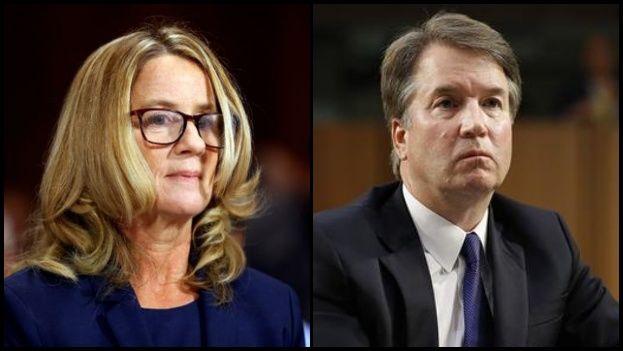 Es la palabra de Christine Blasey Ford contra la de Brett Kavanaugh. (Collage/EFE)
