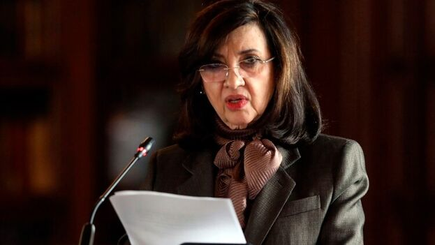 La canciller de Colombia, Claudia Blum. (EFE/Carlos Ortega/Archivo)