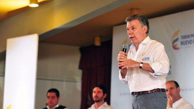 El presidente de Colombia, Juan Manuel Santos. (Facebook)