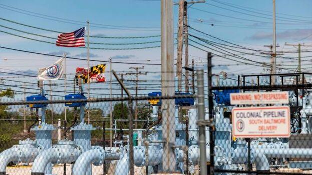 Una instalación de Colonial Pipeline en Baltimore, en el estado de Maryland. (EFE)