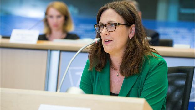 La comisaria europea de Comercio, Cecilia Malmström. (Parlamento Europeo)