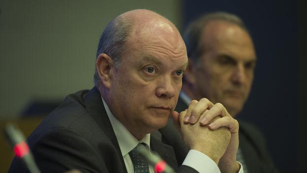 El ministro de Comercio cubano, Rodrigo Malmierca, en Madrid. (CEOE)