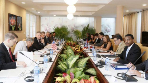 La reunión de la Comisión Bilateral Cuba-EE UU. (MINREX)