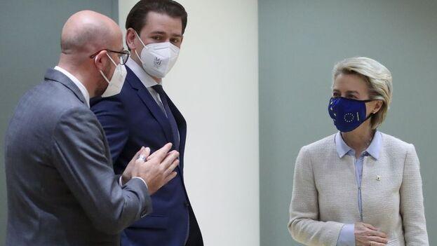 """La presidenta de la Comisión Europea, Ursula von der Leyen, reconoció que el comportamiento ruso está """"empeorando"""". (EFE)"""
