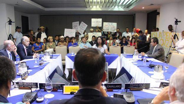Reunión este jueves de la Comisión Interamericana de Derechos Humanos. (Facebook CIDH)