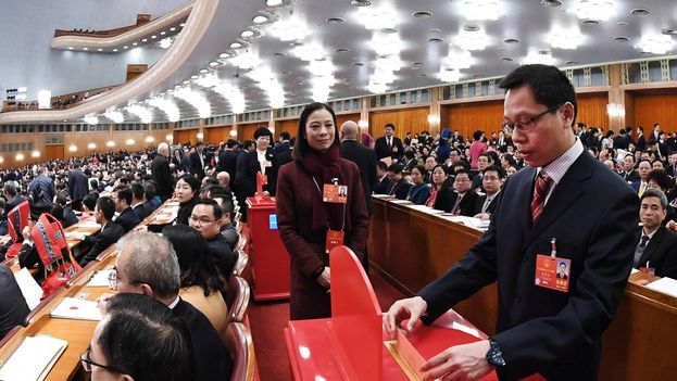 La Comisión Nacional de Supervisión está desde el domingo incluida en la Constitución china. (Xinhua)
