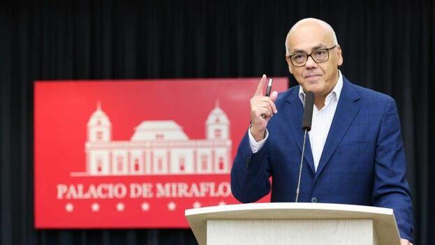 El ministro de Comunicación del régimen de Nicolás Maduro, Jorge Rodríguez. (EFE)