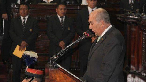 El presidente del Congreso, Mario Taracena Días-Sol, da por concluida la primera parte de la sesión. (Congreso de Guatemala)