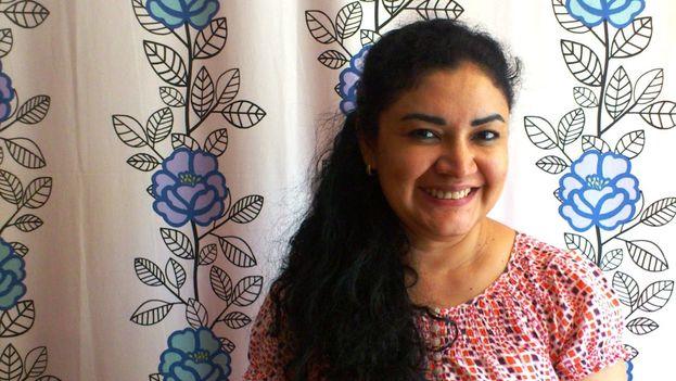 Ligia Gómez compareció en el Congreso de Estados Unidos para hablar de la situación en Nicaragua. (Cortesía/ Mildred Largaespada/ Confidencial)