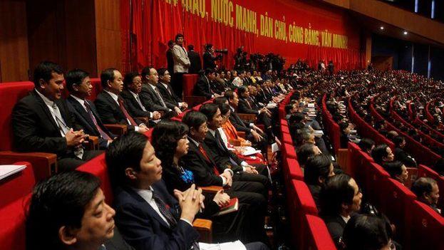 Congreso del Partido Comunista de Vietnam. (Archivo EFE)