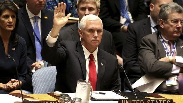 """""""Una clara mayoría de los miembros del Consejo de Derechos Humanos falla en cumplir con los estándares de derechos humanos más básicos"""", insistió Pence."""