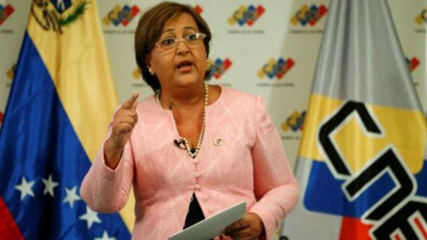 La presidenta del Consejo Nacional Electoral de Venezuela, Tibisay Lucena. (EFE)