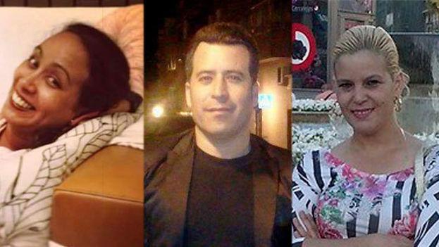 Las tres víctimas del crimen de la calle Usera. De izquierda a derecha, Elisa Consuegra, Pepe Castillo y Maritza Osorio. (El Mundo)