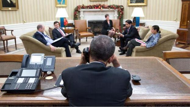 Conversación telefónica entre Barack Obama y Raúl Castro. (Casa Blanca)