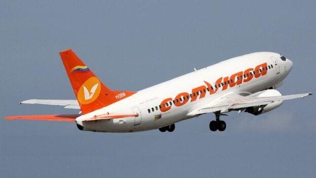 El avión de Conviasa  aterrizó este jueves de emergencia en La Habana después de sufrir problemas técnicos. (Archivo/El Nacional)
