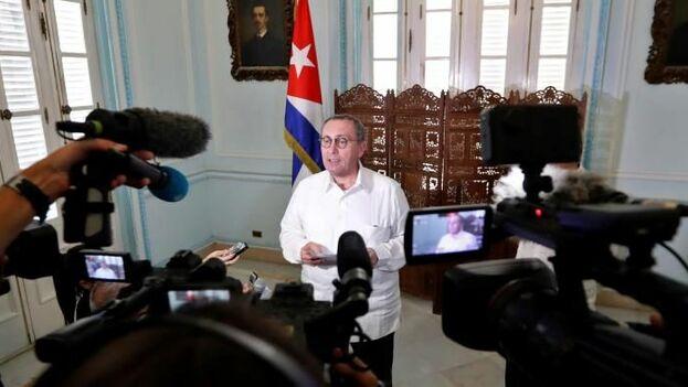 El director general de Cooperación Internacional y Desarrollo de la Comisión Europea, Stefano Manservisi, este martes en la sede del Ministerio de Relaciones Exteriores en La Habana. (EFE)