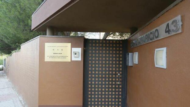 Vista de la embajada de Corea del Norte en Madrid, en el distrito Moncloa- Aravaca. (EFE/Archivo)