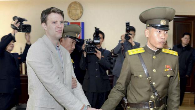 """Corea del Norte decidió liberar """"por motivos humanitarios"""" al ciudadano estadounidense, según afirmaron este jueves los medios estatales. (KCNA)"""