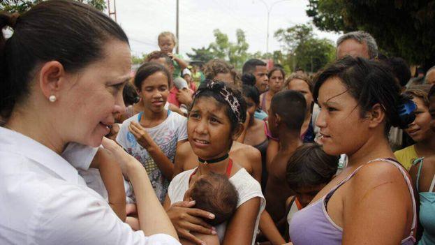 María Corina Machado está recorriendo Venezuela para hacer campaña por el desconocimiento del Gobierno. (MariaCorinaYa)